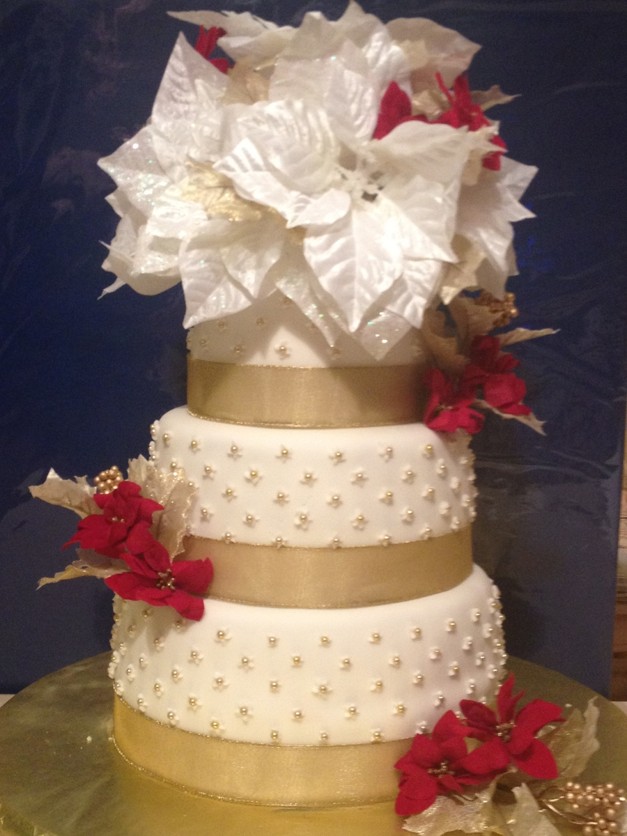 Christmas Wedding Cake on Cake Central
