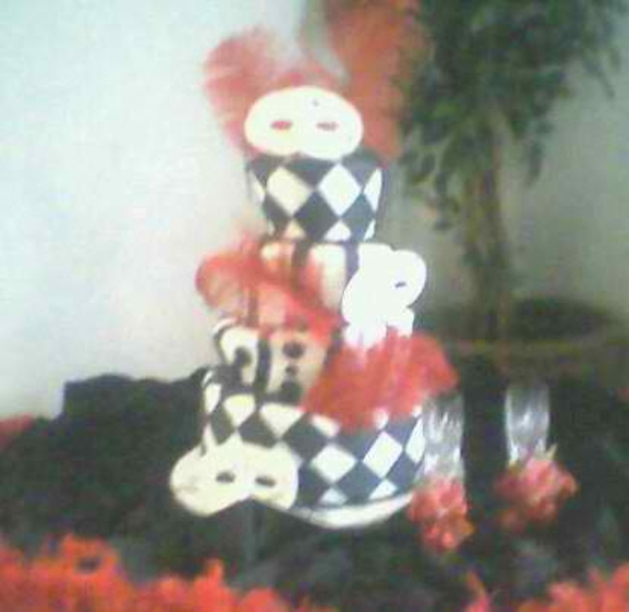 Masquerade Quinceanera Cake  on Cake Central
