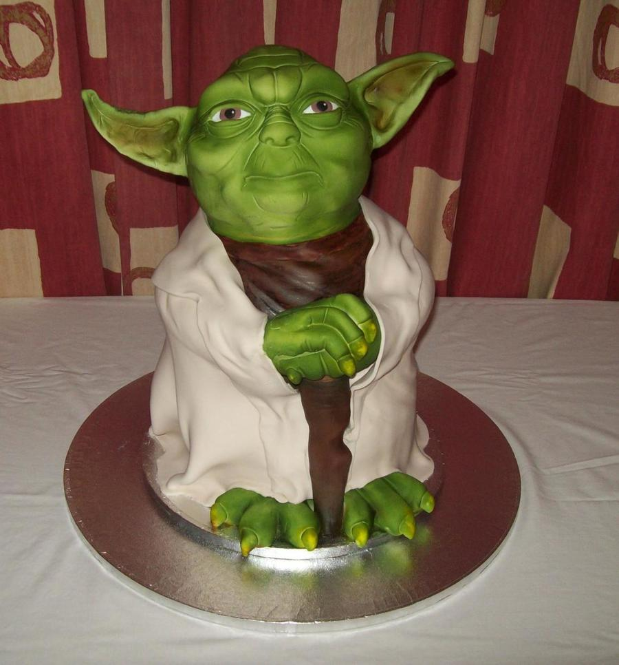 Lifesized Yoda All Vanilla Sponge Amp Vanilla Bc Thanks For Looking on Cake Central