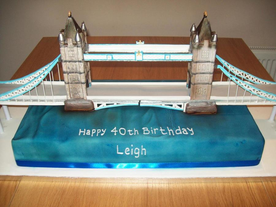 3 Foot Long Tower Bridge Cake on Cake Central