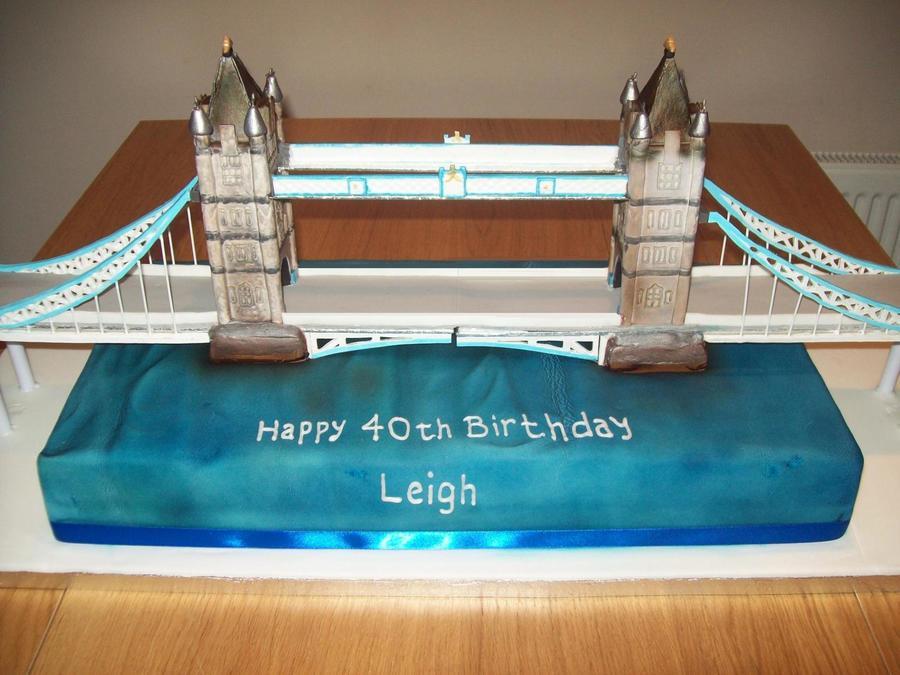 3 Foot Long Tower Bridge Cake Cakecentral Com