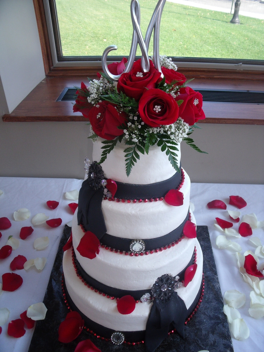 Red And Black Wedding on Cake Central