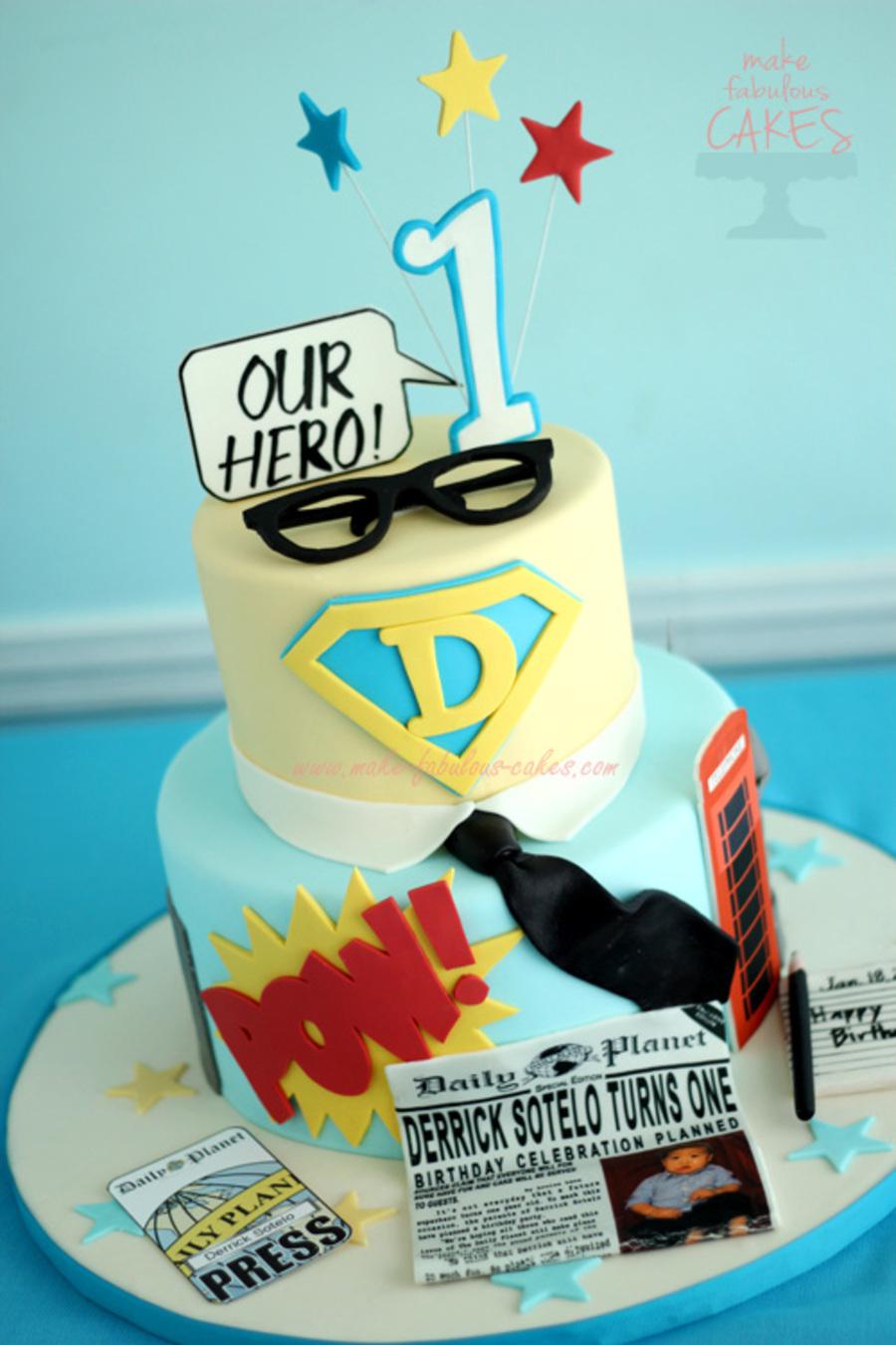 Superman Birthday Cake Cakecentral Com