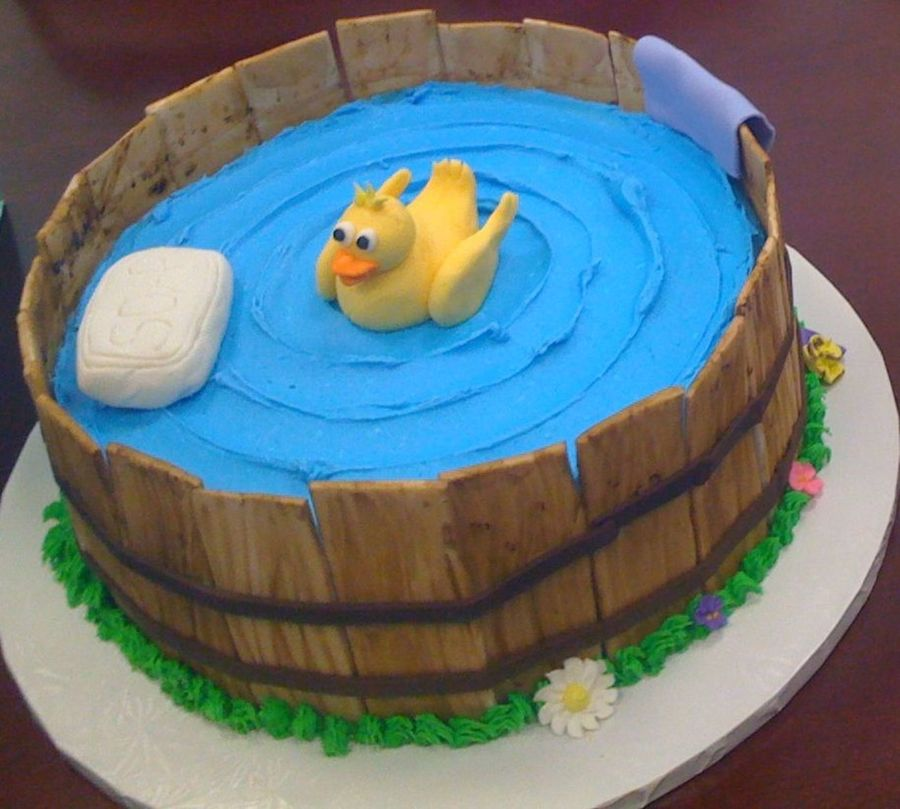 Ducky In A Washtub on Cake Central