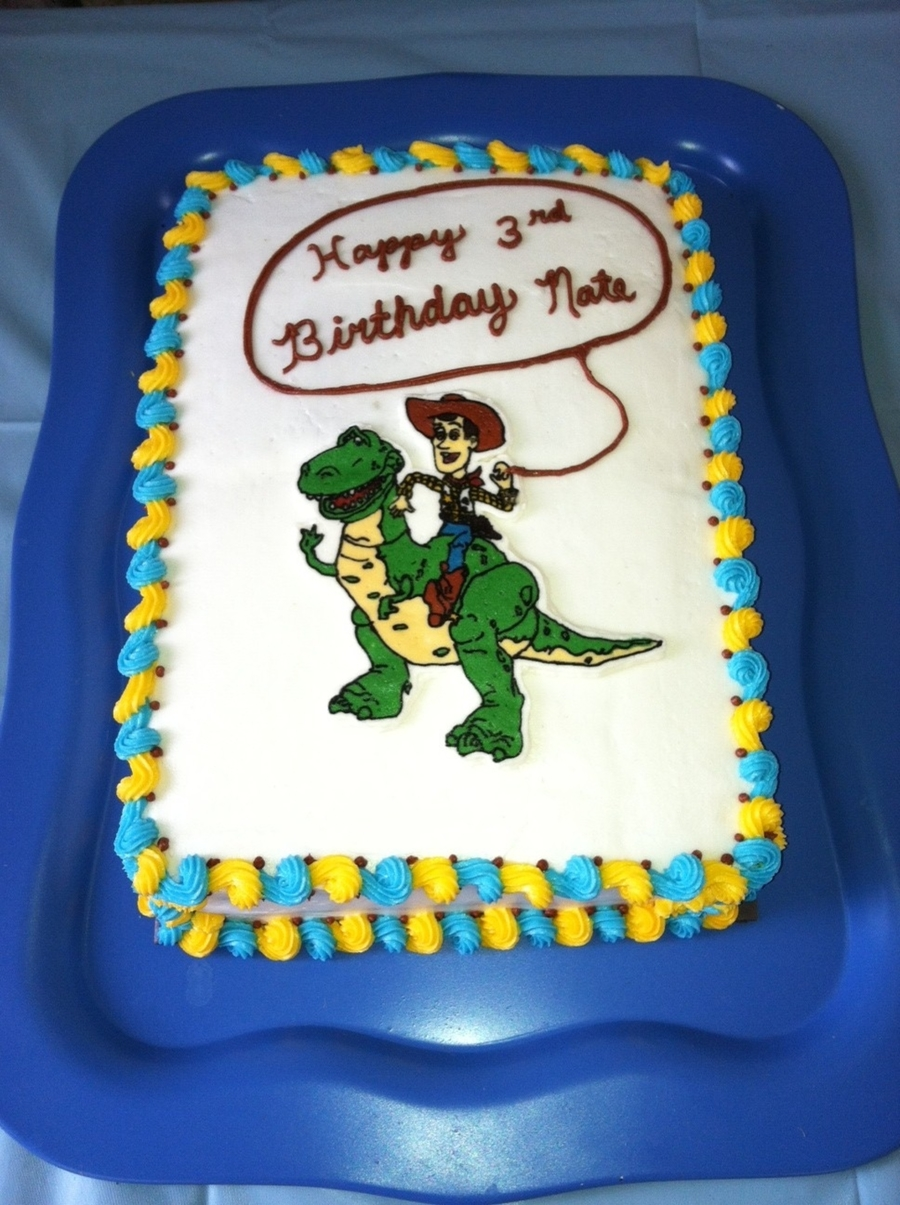 Woody & Rex on Cake Central