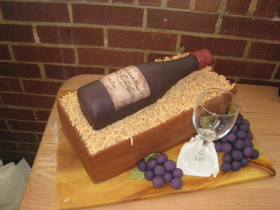 Wine Bottle Cake  on Cake Central