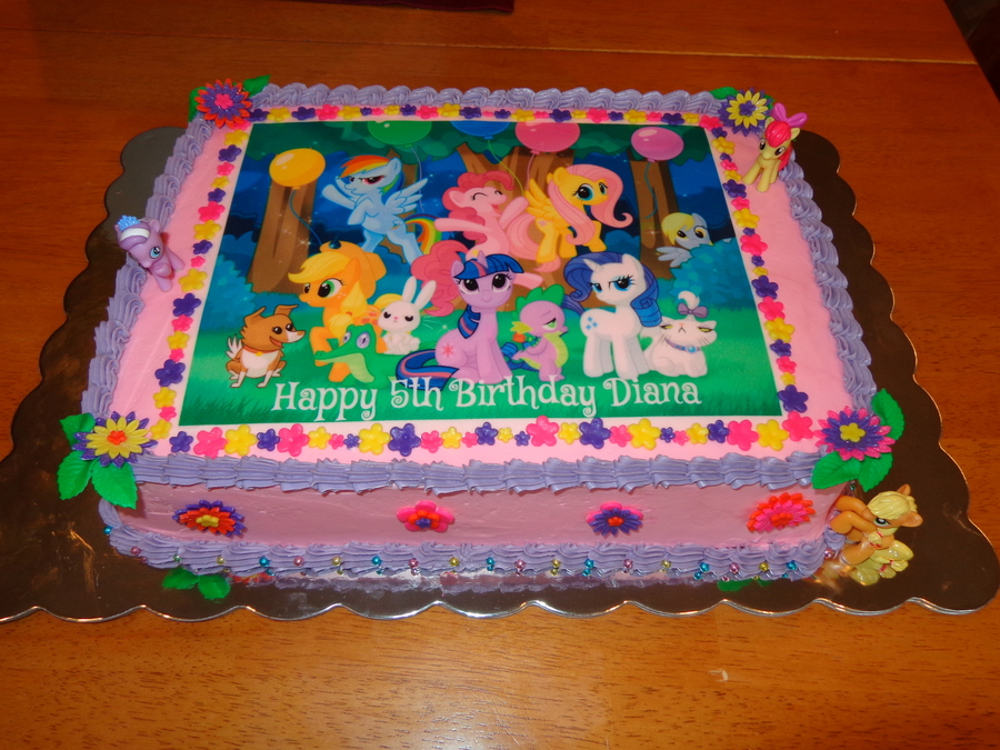 My Little Pony Cake For My Daughters Birthday White Sour Cream Almond ...