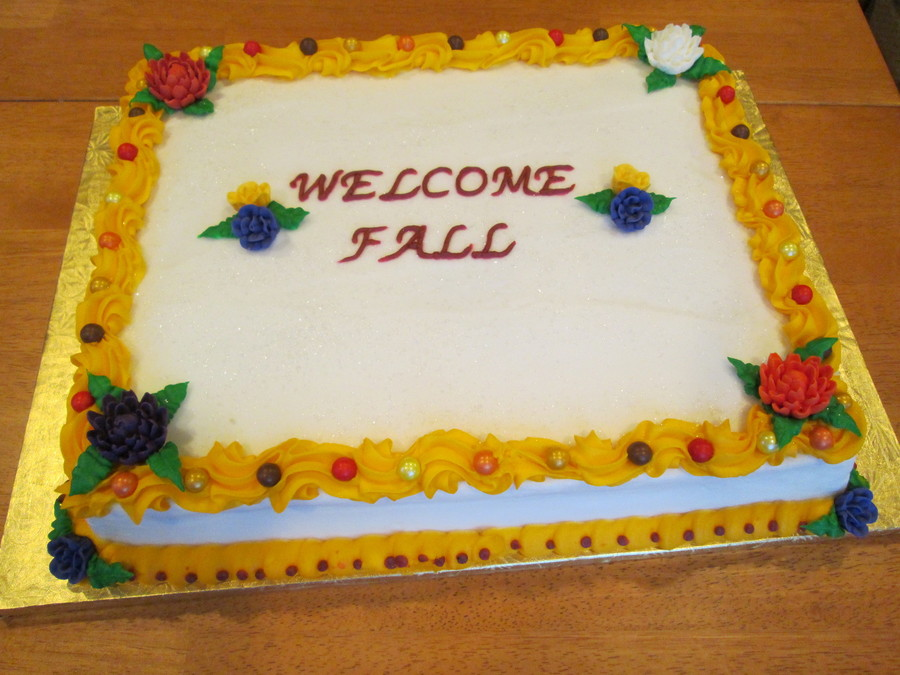 Welcome Fall Cake on Cake Central