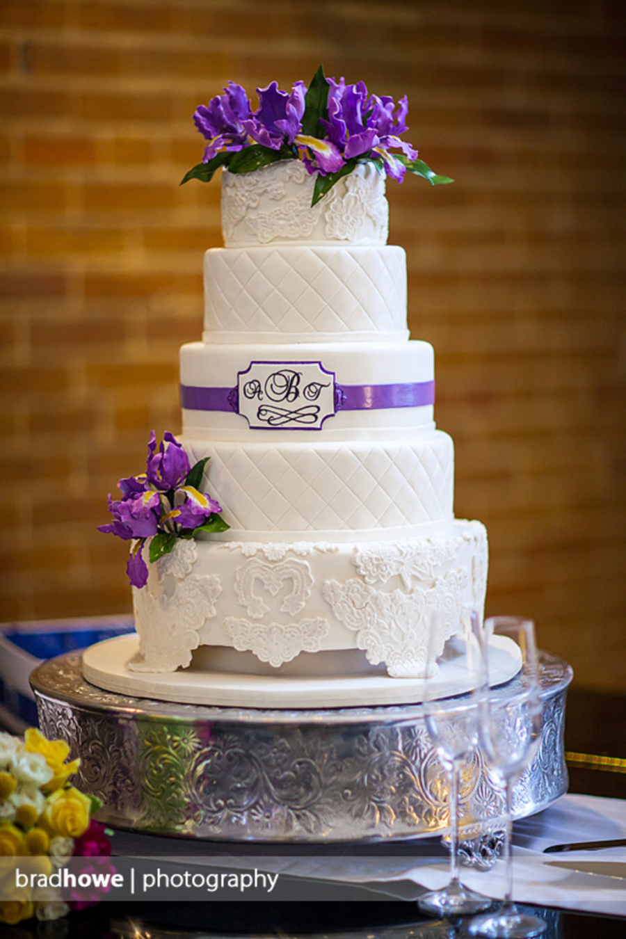 Iris And Lace Wedding Cake on Cake Central