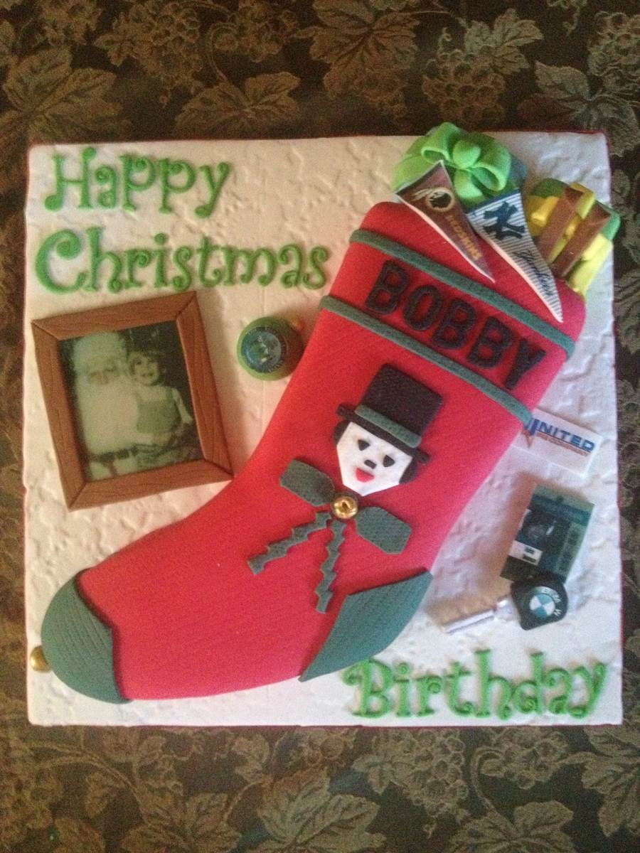 Christmas Stocking on Cake Central