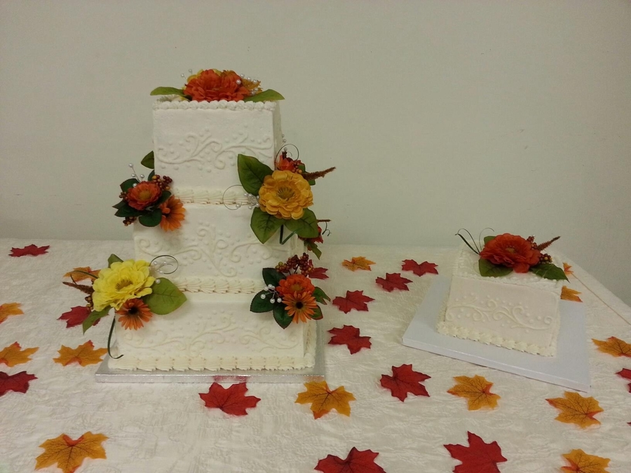 Fall Flowers on Cake Central