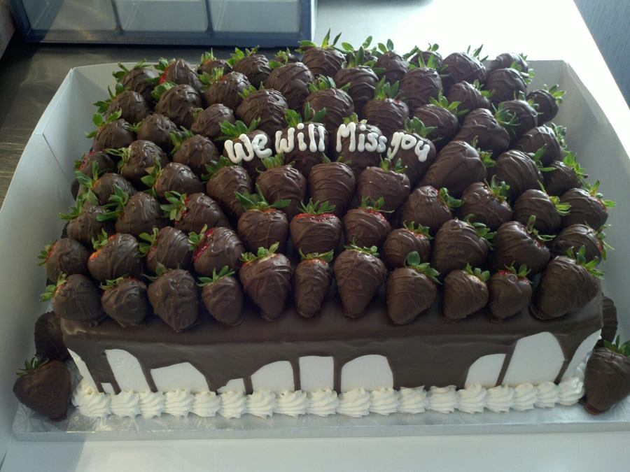 Choc. Covered Strawberries on Cake Central