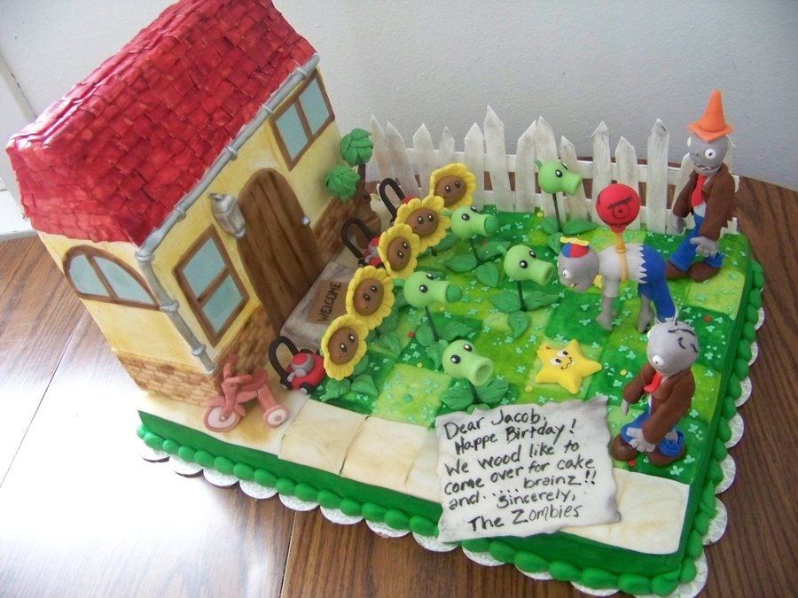 Plants Vs Zombies on Cake Central