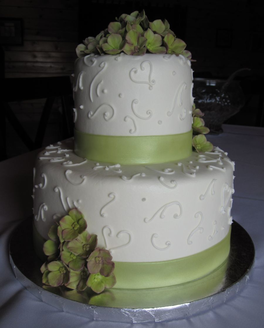Sage Ribbon Cake on Cake Central