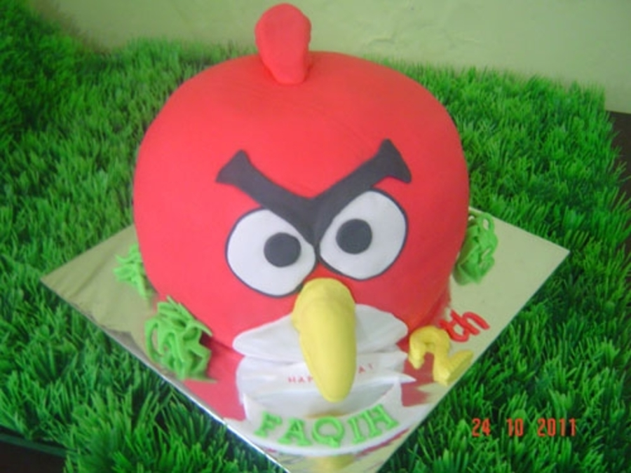 Angry Bird For Faqih on Cake Central