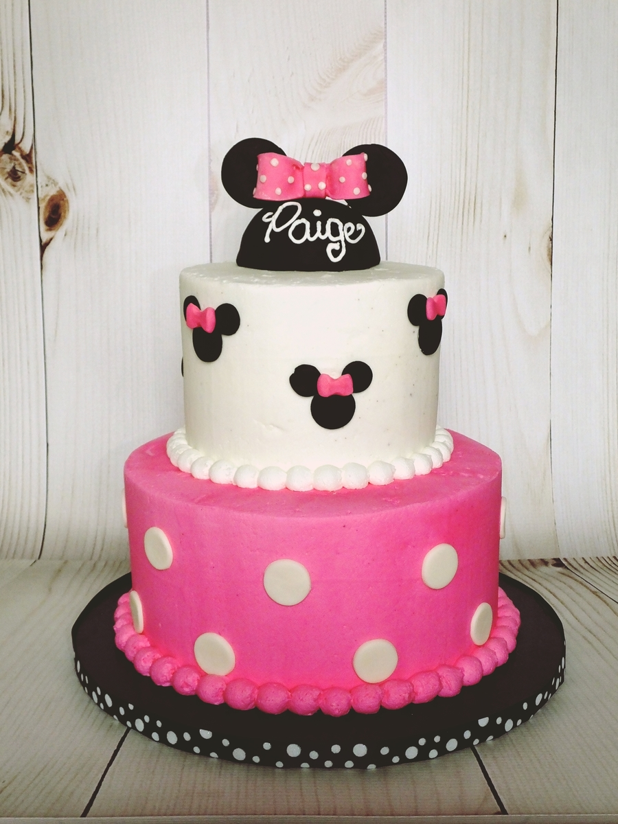 Minnie Mouse Buttercream Cake Cakecentral Com
