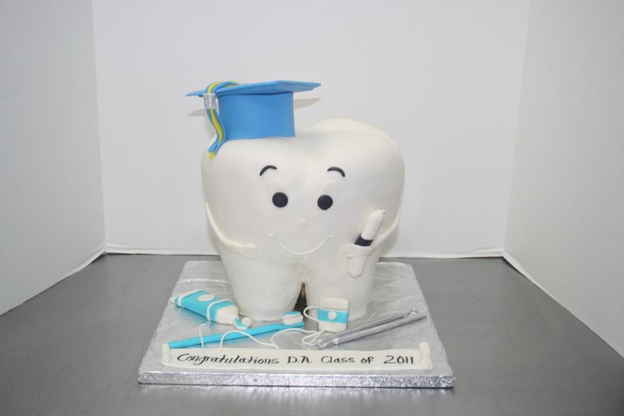 dental assistant grad cake