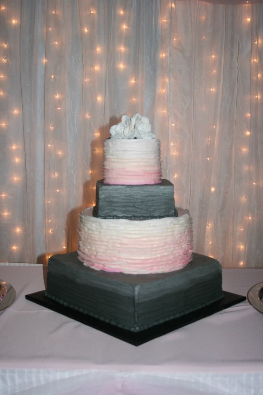 Faded Color Wedding Cake  on Cake Central