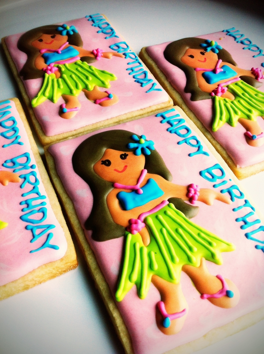 Hula Girl on Cake Central
