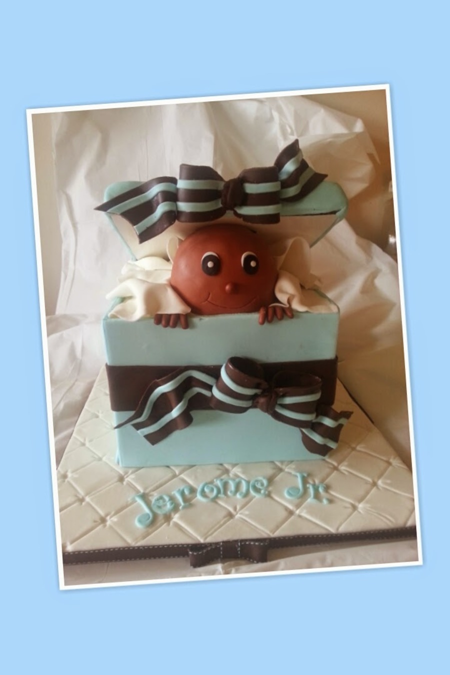 Baby Shower Gift Box on Cake Central