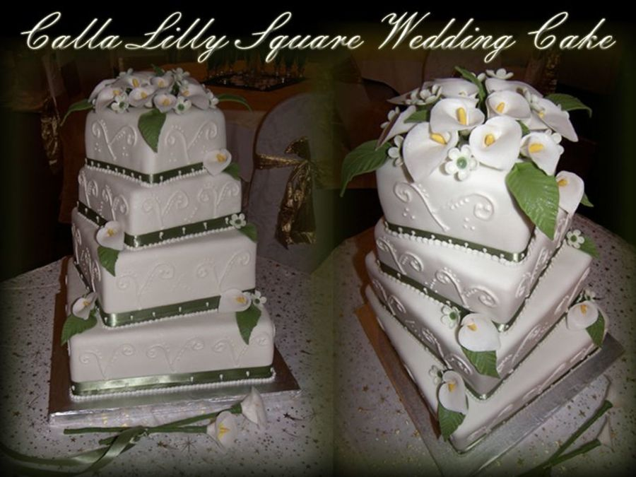 square 4 tier wedding cakes 4 tiered square wedding cake cakecentral 20343