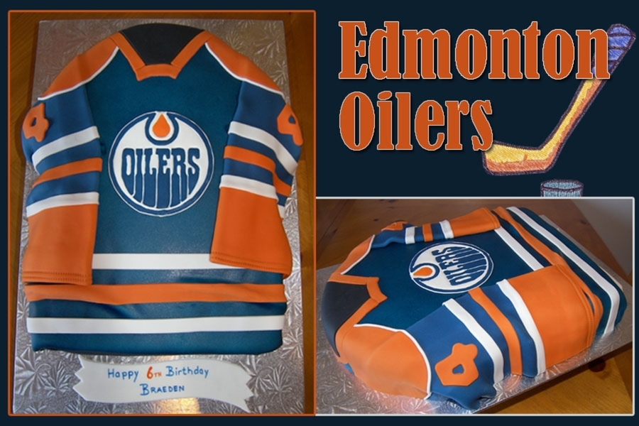 Edmonton Oilers Jersey on Cake Central