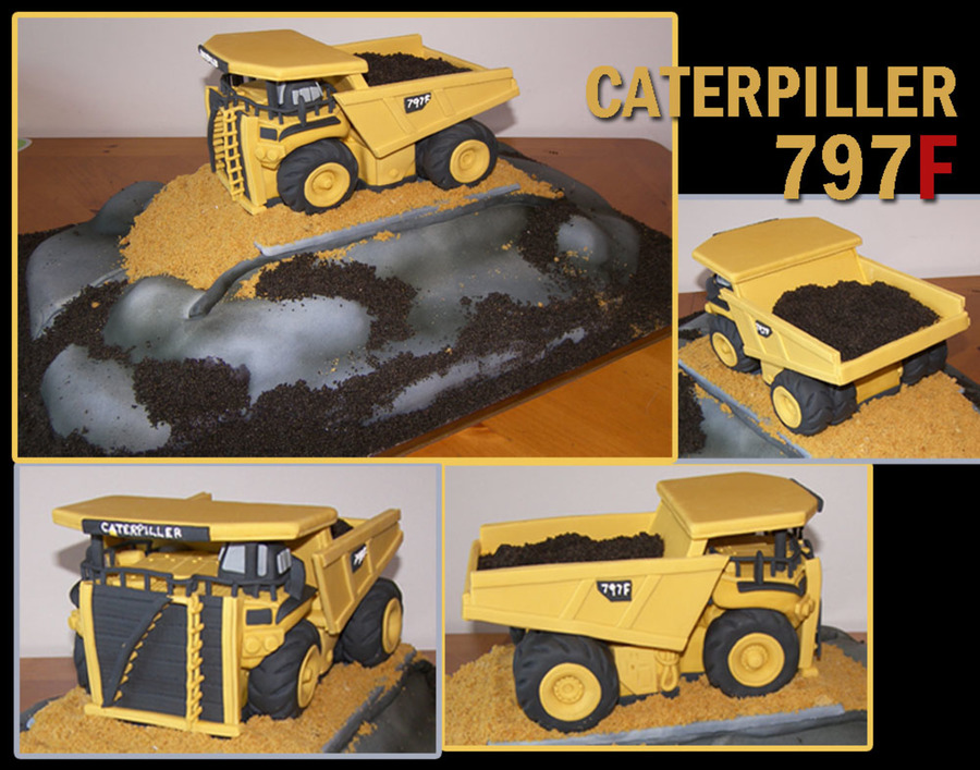 Caterpiller 797F on Cake Central