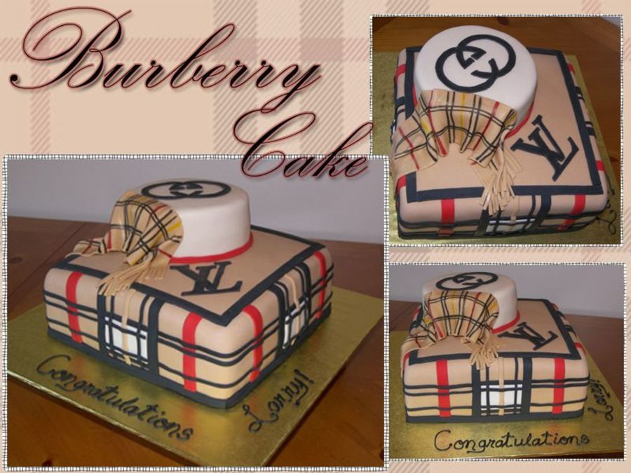 Burberry Patterned Cake on Cake Central