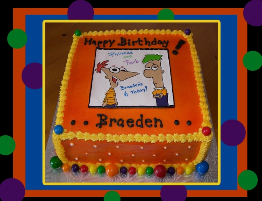 Phineas & Ferb on Cake Central