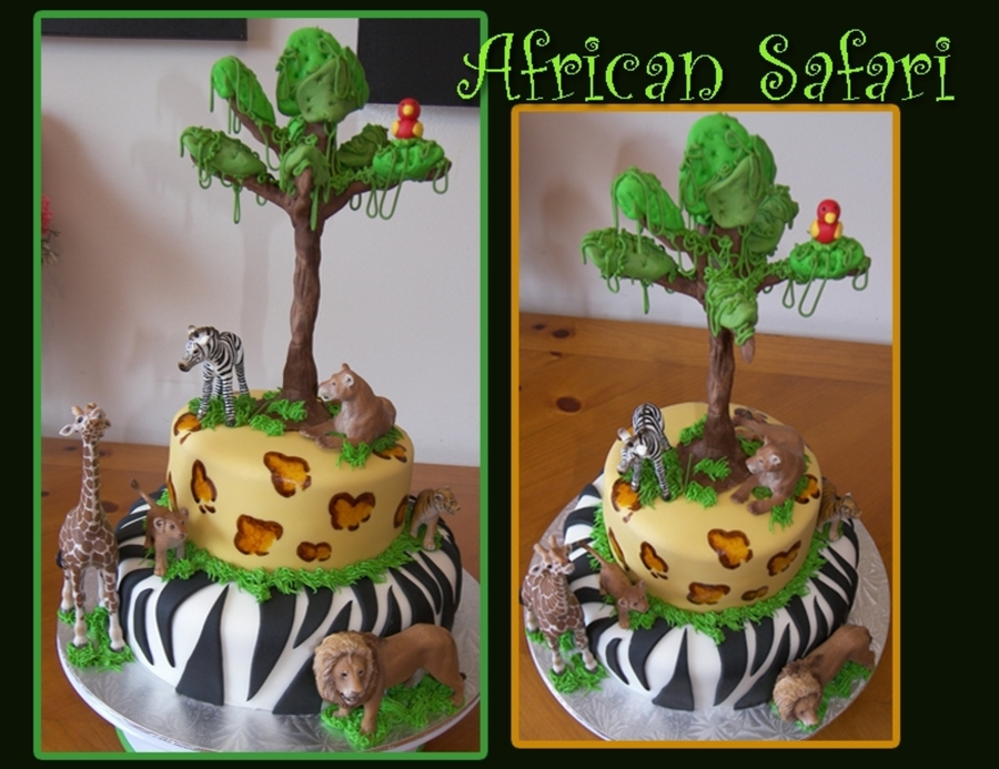 African Safari on Cake Central