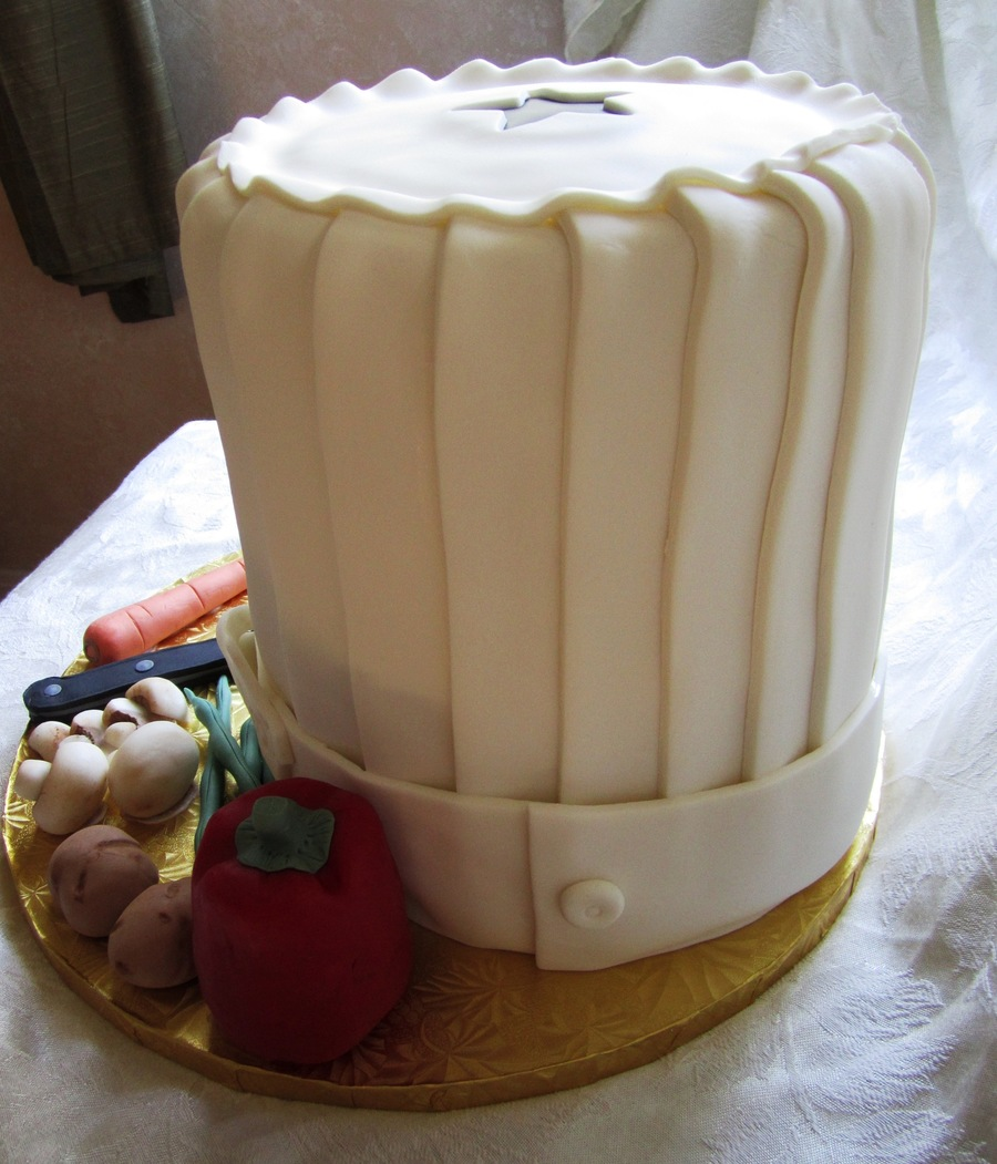 Birthday Cake Design For Chef : Whimsical Chef Hat - CakeCentral.com