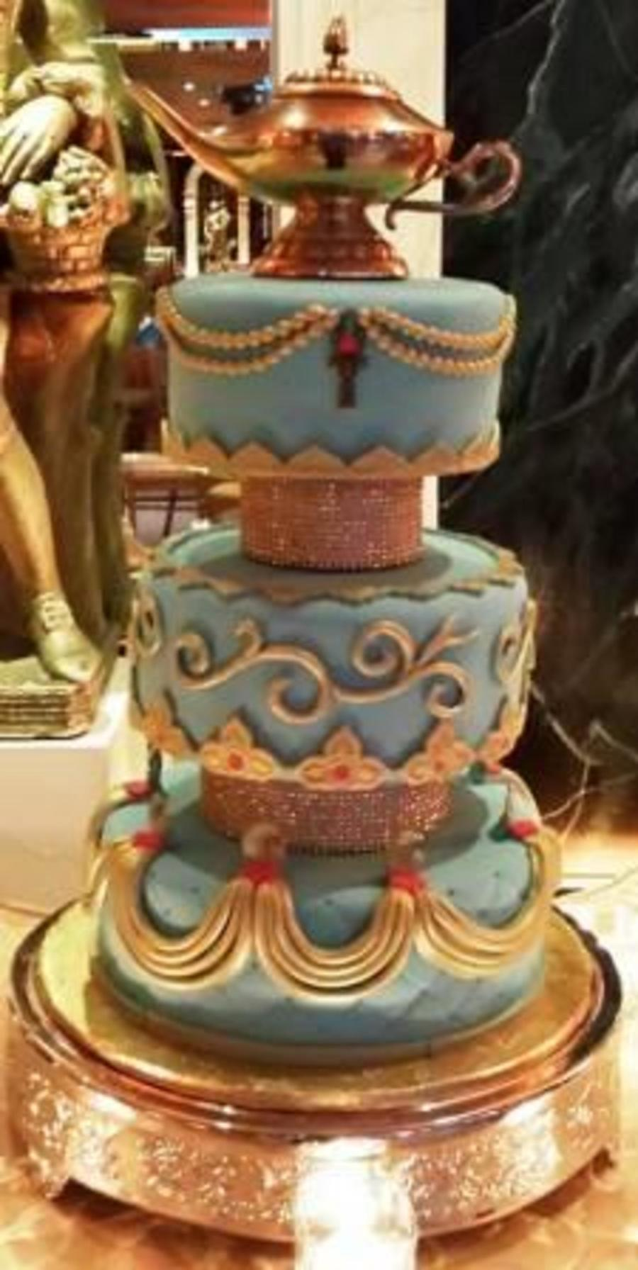 Arabian nights sweet 16 for Arabian cake decoration