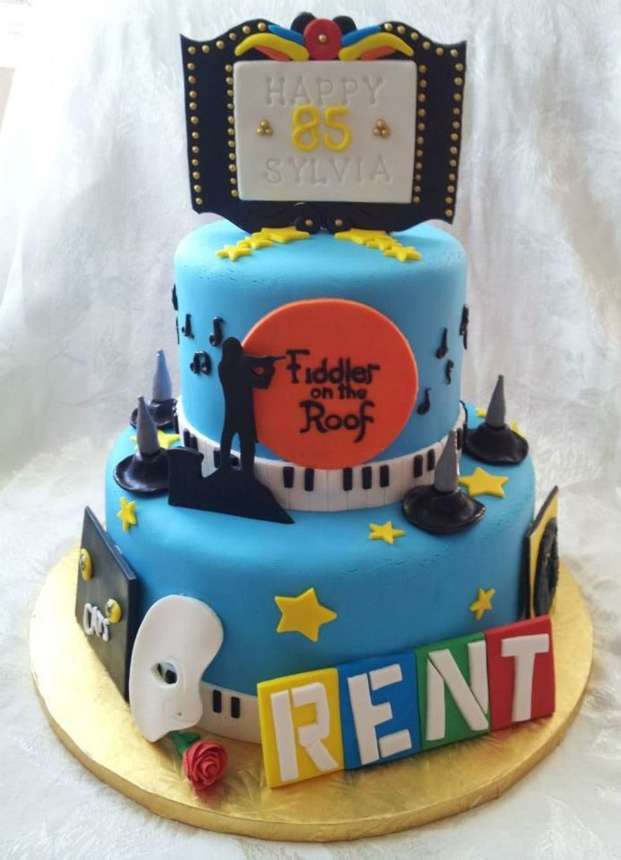 85th Broadway Themed Cake Special Nod To Fiddler On The