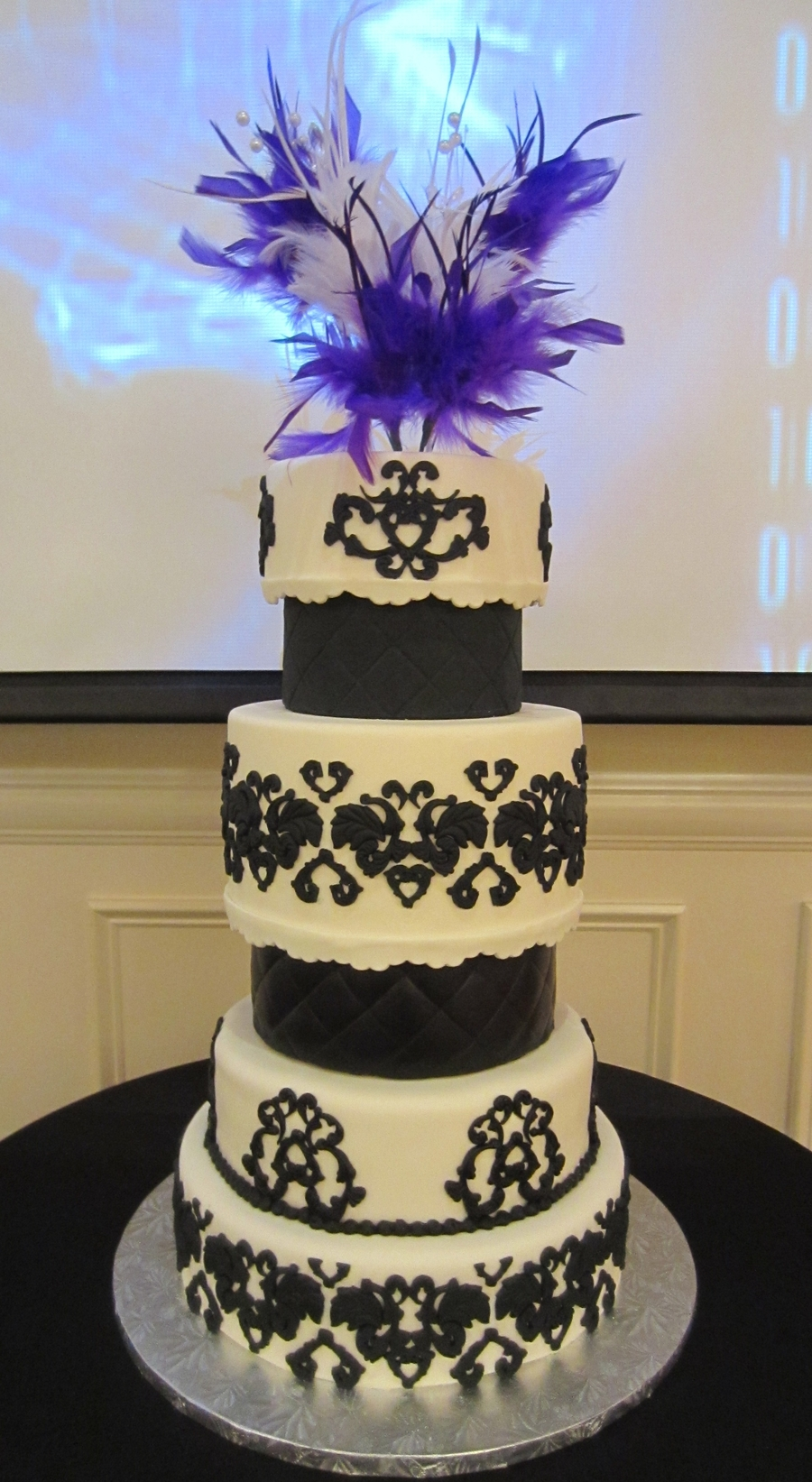 Black and White Sweet 16 Cakes