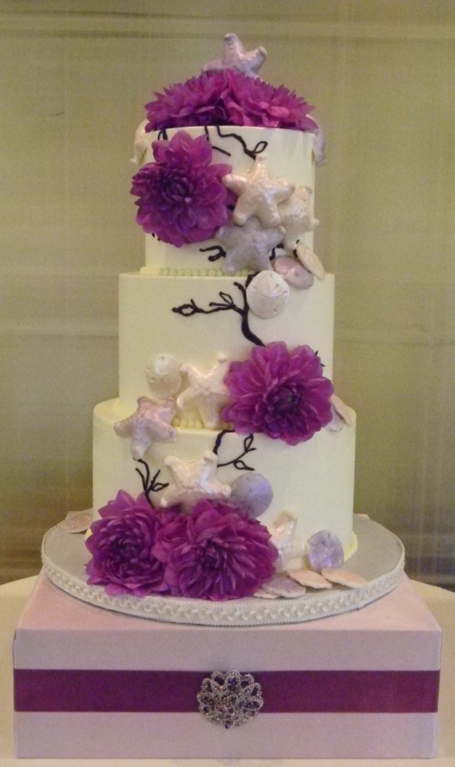 Purple And Pink Sand Dollar on Cake Central