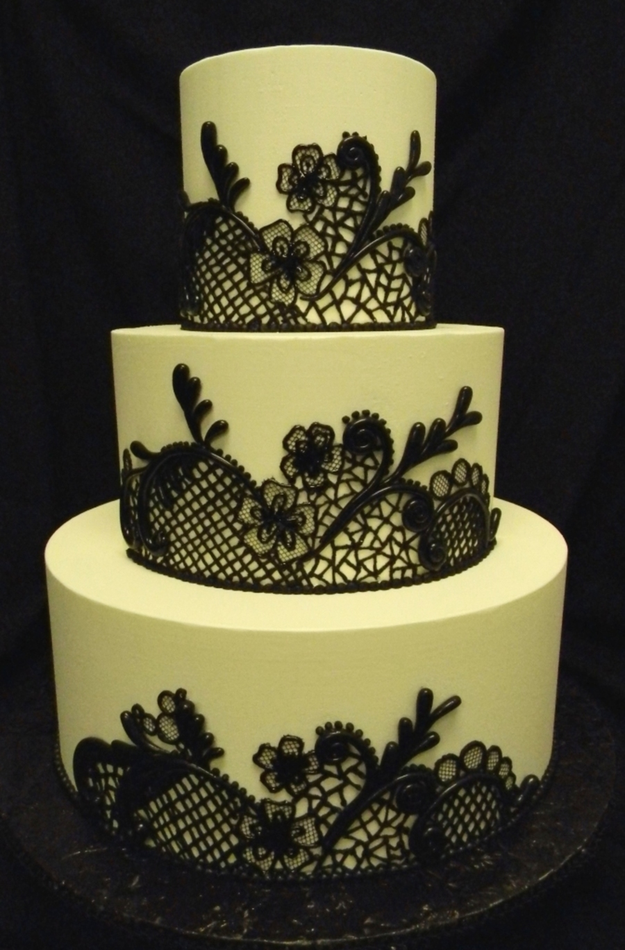 Black Lace Cake on Cake Central
