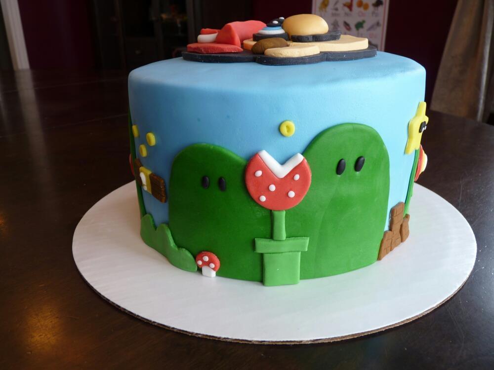 Super Mario Bros Cake Fondant And Gumpaste - CakeCentral.com