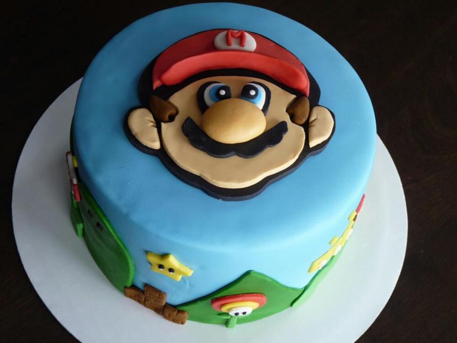 Super Mario Bros Cake Fondant And Gumpaste CakeCentralcom