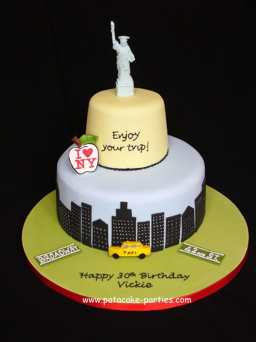 Cake With A Yellow Cab