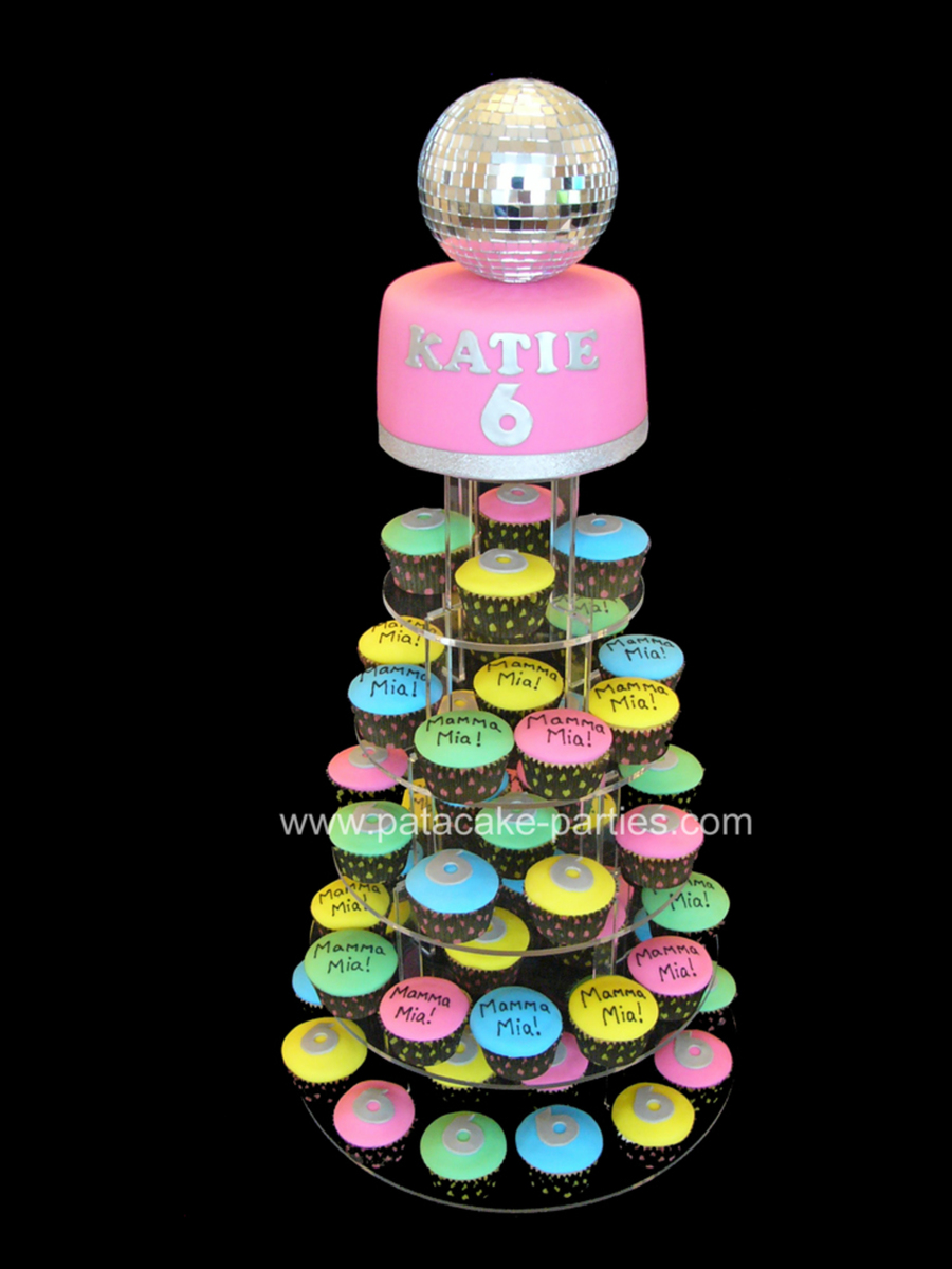 Cake Decorating Disco Ball : Mamma Mia Disco Cupcakes - CakeCentral.com