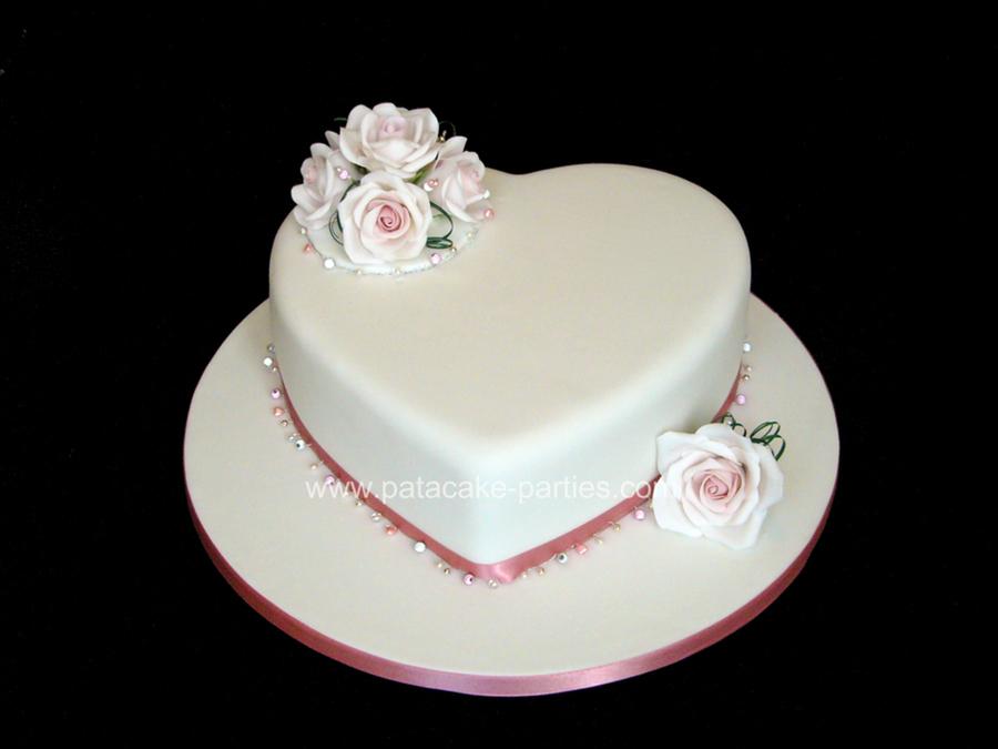 Single Tier Wedding Cake Cakecentral Com