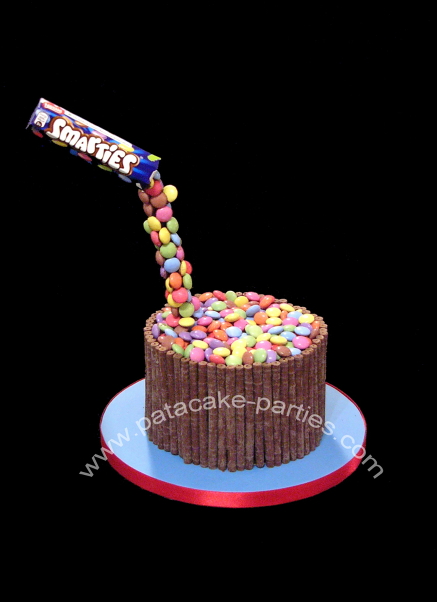 Anti Gravity Smarties Cake Cakecentral