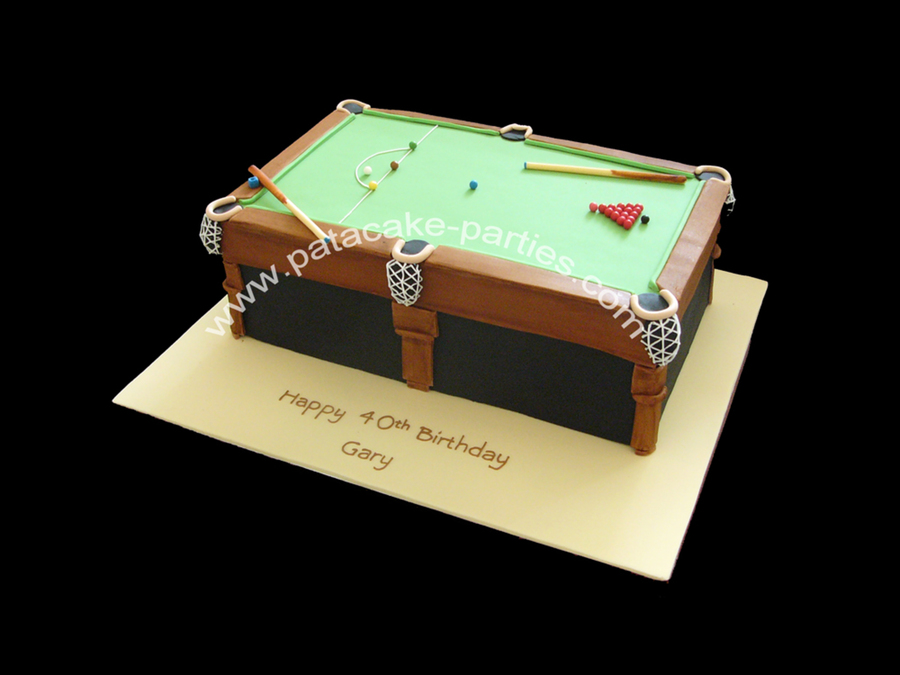 Snooker Table Cake Cakecentral