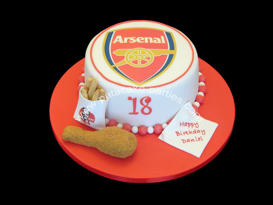 Kfc Arsenal Fc Cake CakeCentralcom