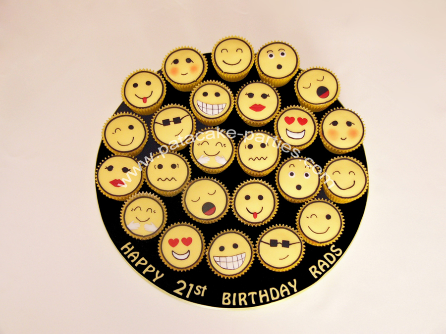 Emoticon Cupcakes  on Cake Central