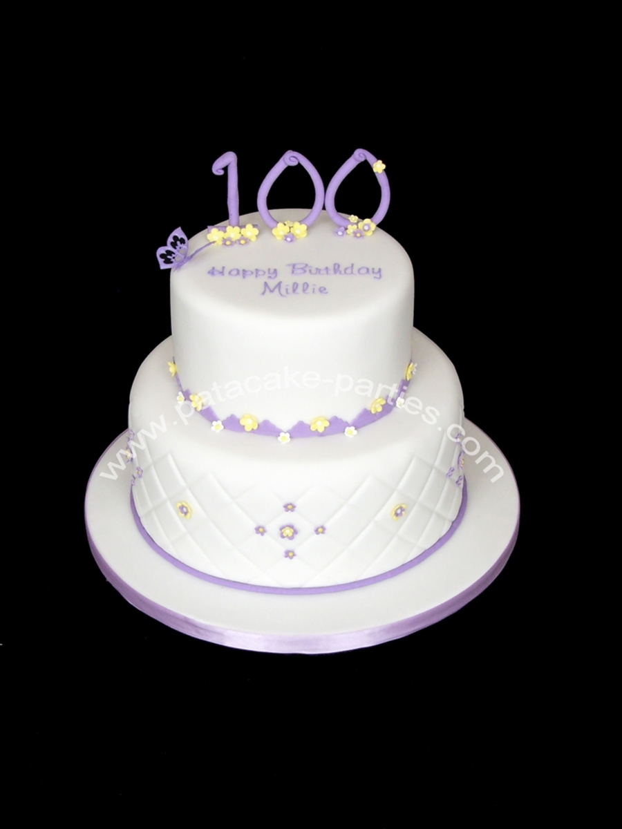 Surprising 100Th Birthday Cake Cakecentral Com Birthday Cards Printable Riciscafe Filternl