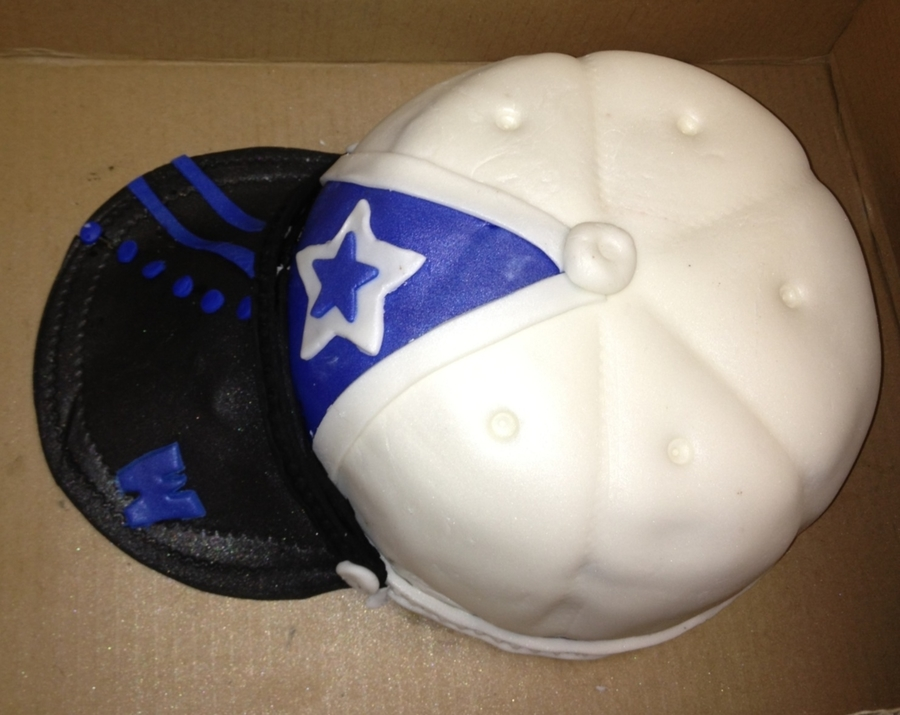 Cowboys Baseball Cap on Cake Central
