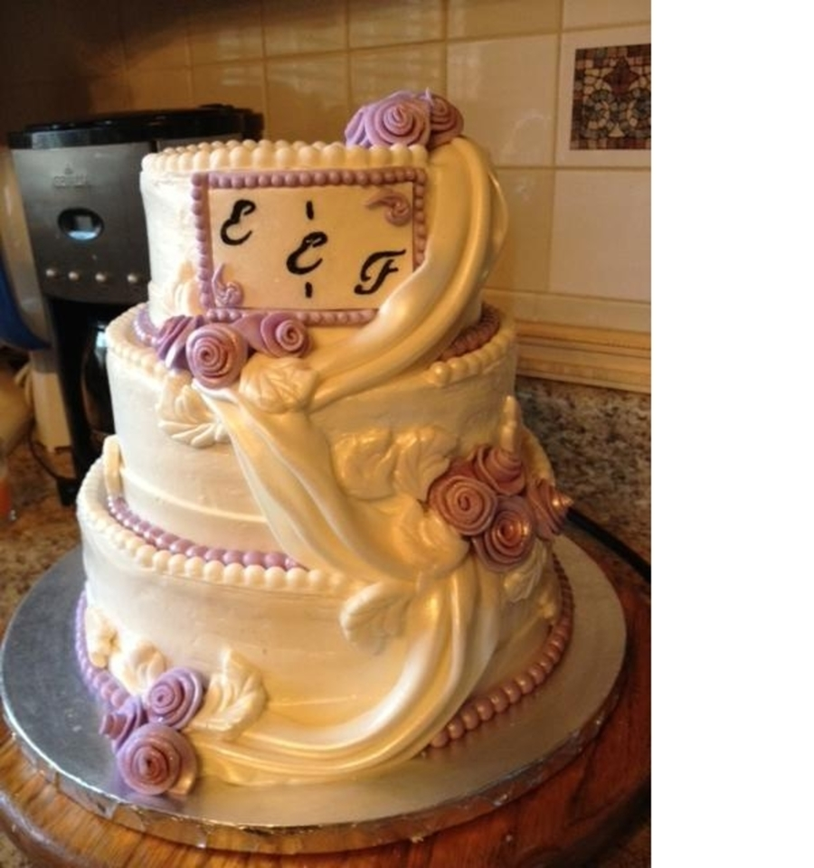 Another Wedding Cake  on Cake Central
