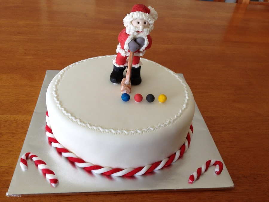 Croquet Santa on Cake Central