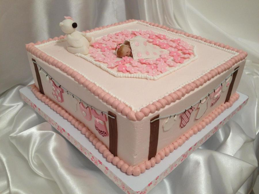 Baby Girl Cloth Line on Cake Central
